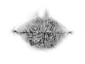 drawings in pencil lips