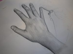 drawings of hands hand getting drawn by line art by theonlyjwht dfq