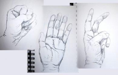 drawings of hands hands