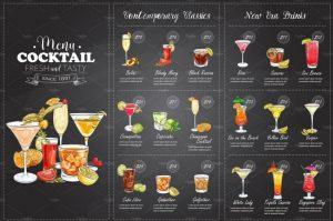 drink menu design cocktail menu template design