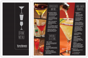 drink menu design trdrinkmenu