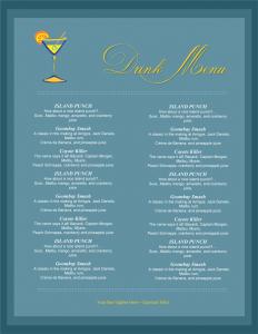 drink menu template drink menu template for word
