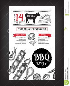 drinks menu template barbecue party invitation bbq template menu design food flyer vector graphic