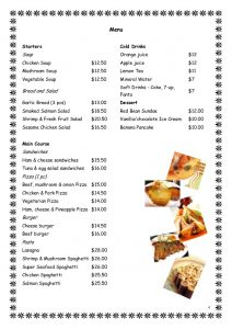 drinks menu template ordering food in a restaurant modal verbs would like can