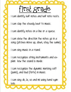 easy grader chart pdf i can first grade