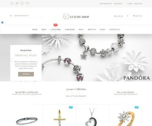 ecommerce website template luxury shop