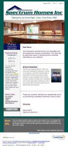 ecommerce website template spectrum constant contact template