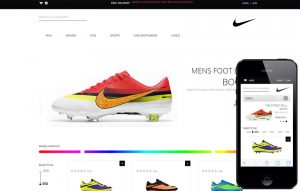 ecommerce website template spike shoes future