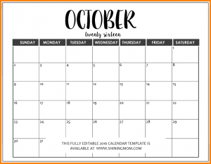 editable calendar template editable calendar template fully editable october calendar in ms word