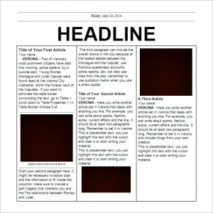 editable newspaper template editable elementary school newspaper template free google doc