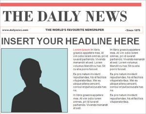 editable newspaper template editable powerpoint newspaper template free