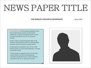 editable newspaper template free editable newspaper template