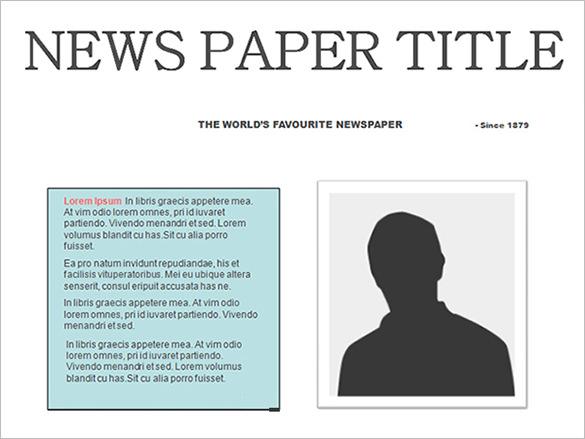 editable newspaper template