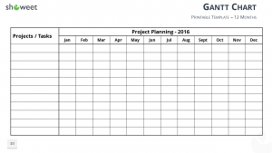 editable weekly calendar gantt chart powerpoint printable template widescreen