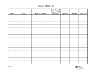 editable weekly calendar visitor log template