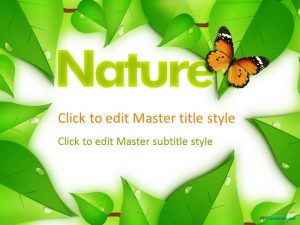 educational ppt template nature ppt template