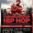 email flyer template underground hip hop flyer