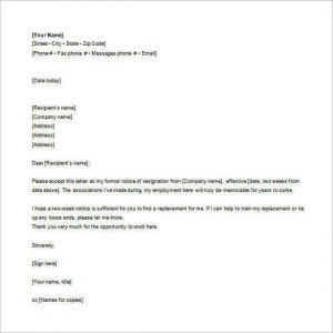 email resignation letter employee email resignation letter free word format download