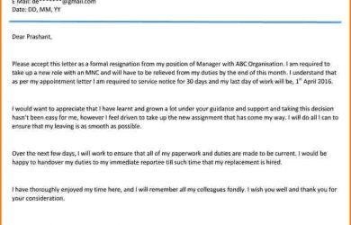 email resignation letter resignation email format resignation letter