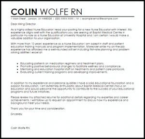 email signature for college student nurse educator