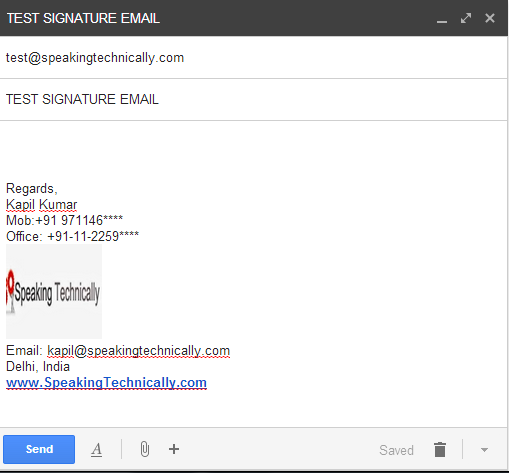 email signature for college student