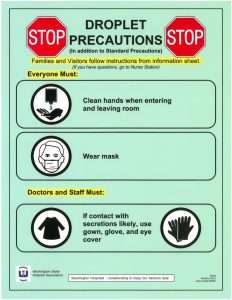 emergency contact sheet iso precautions droplet x