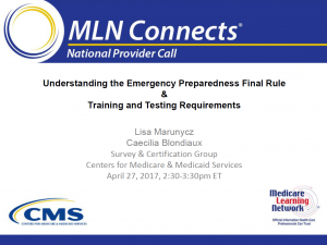 emergency plan template mln cms webinar april