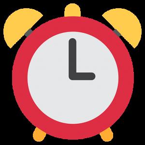 emoji text copy and paste alarm clock