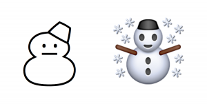emoji text copy and paste snowman