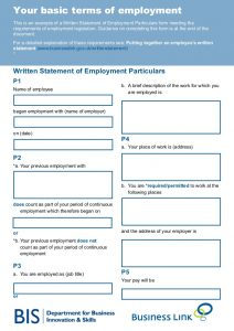 employee agreement template your basic terms of employment