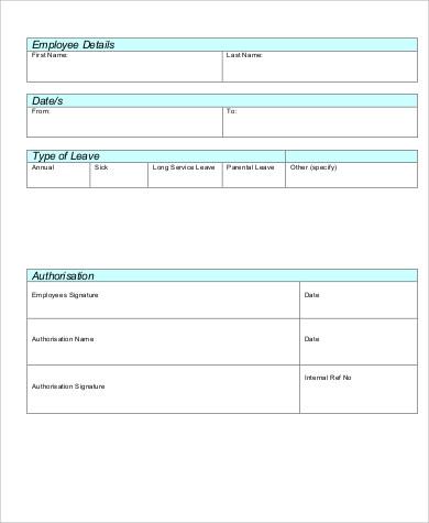 employee application form pdf