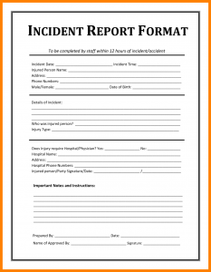 employee application pdf employee incident report sample business templates incident report format and template for employee x