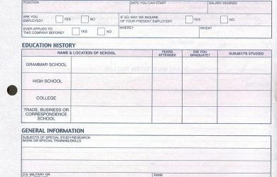 employee application template great lakes radio employment application page of