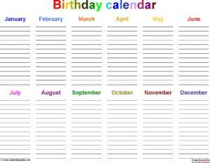 employee attendance calendar office birthday calendar template