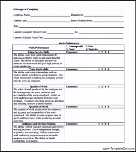 employee comments on performance review what to write employee performance review form