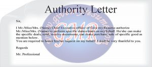 employee contract template authority letter