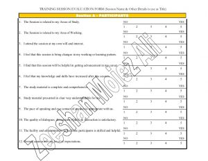 employee evaluation form pdf training session evaluation form