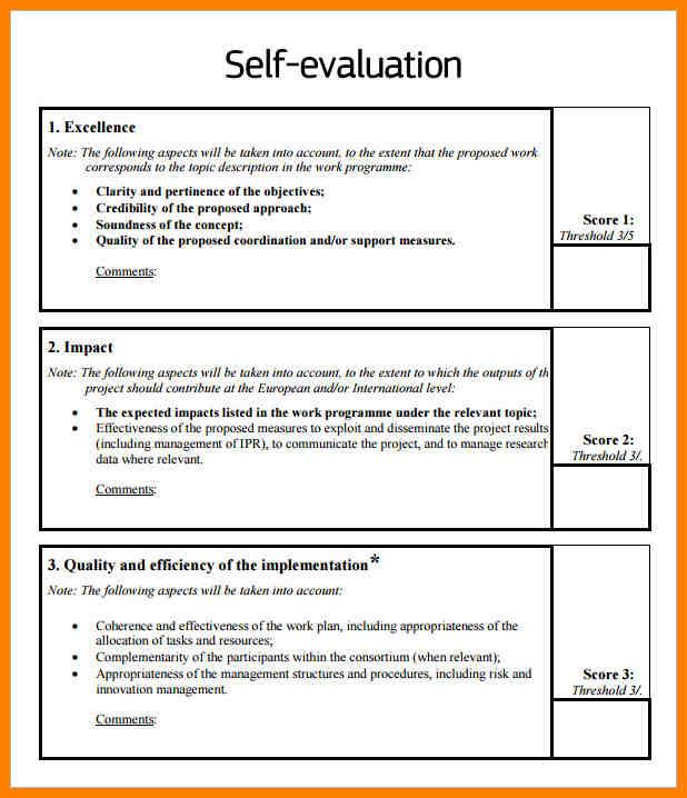 employee evaluation samples
