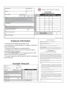 employee file checklist employee information example timecard d