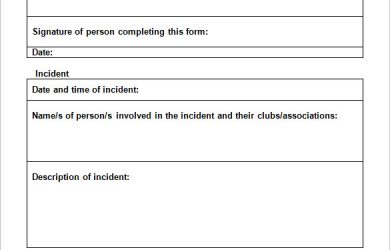 employee incident report business templates simple employee incident report template and form