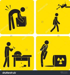 employee incident reports incident clipart stock vector clip art illustration styled like a universal sign showing a stick figure man suffering various