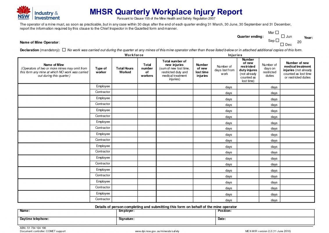 employee injury report