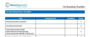 employee onboarding checklist on boarding checklist list