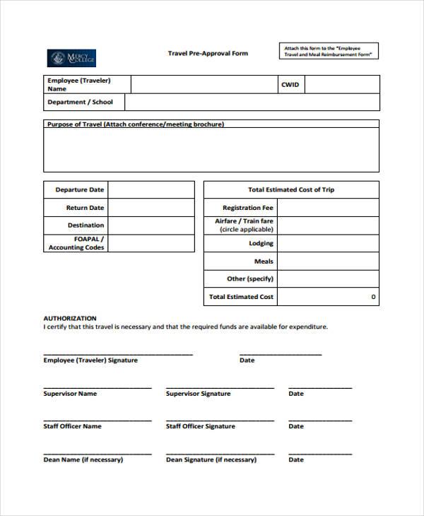 employee reimbursement form