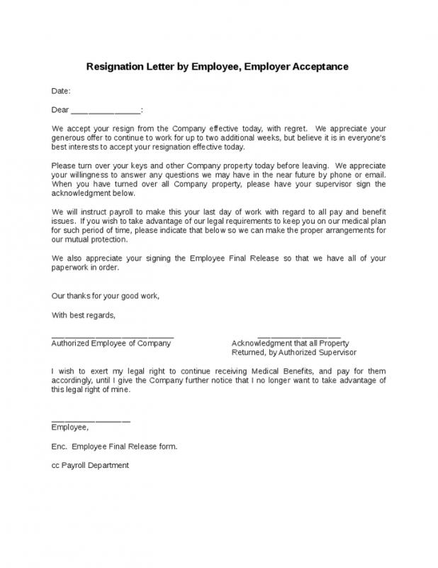 Employee Resign Letter | Template Business