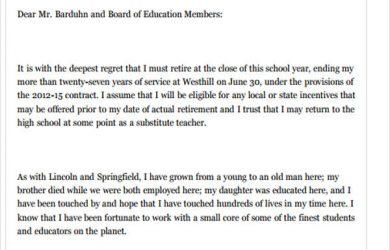 employee resign letter new teacher job resignation letter