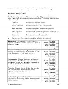 employee review sample sports development officer performance appraisal