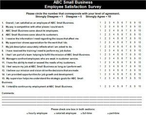 employee satisfaction survey small business employee satisfaction