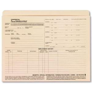 employee separation form a envelofile personnel employee folders xl