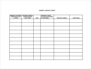 employee sign in sheets parent contact sheet word format free download